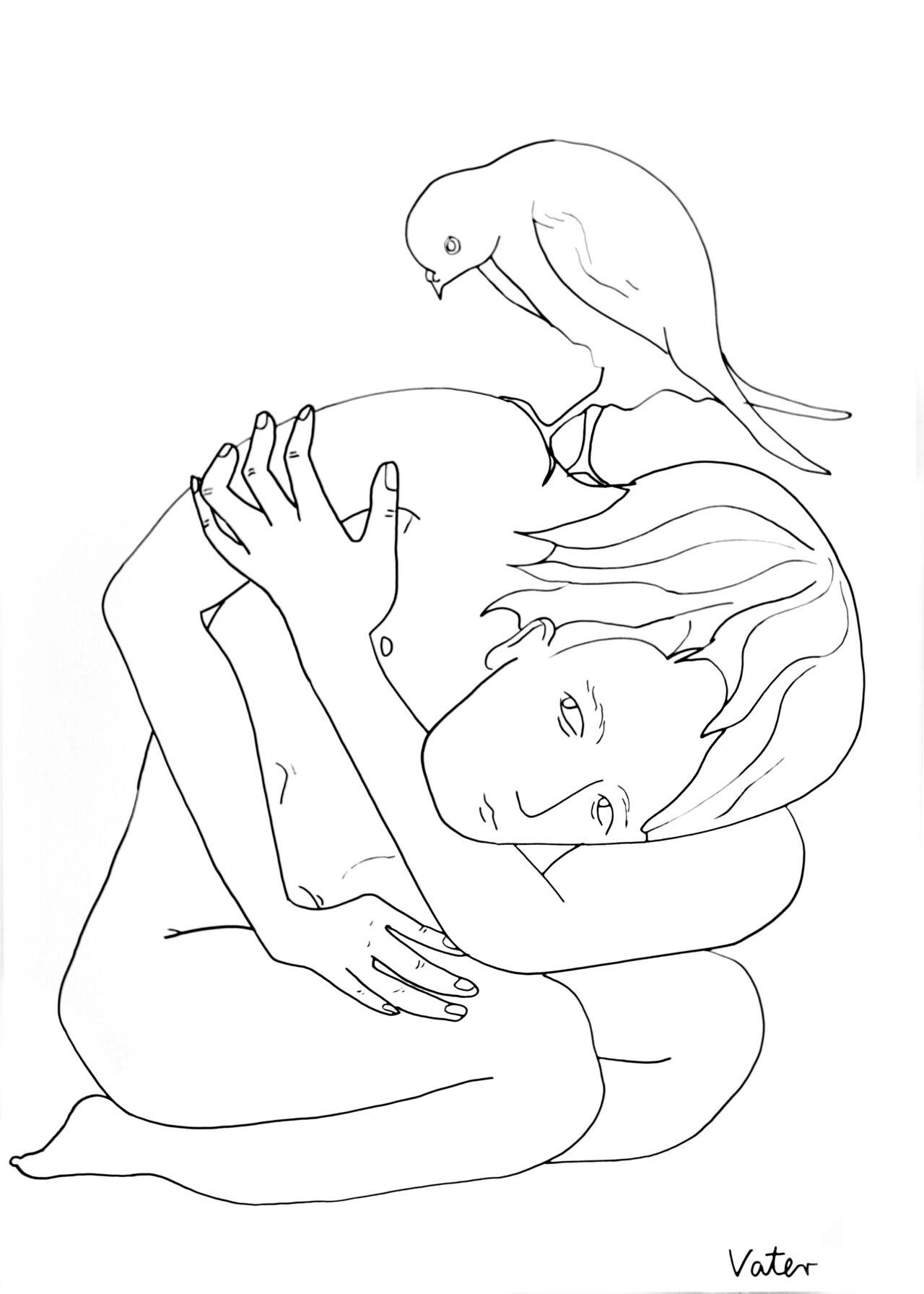 Markus Vater – bird on a shoulder
