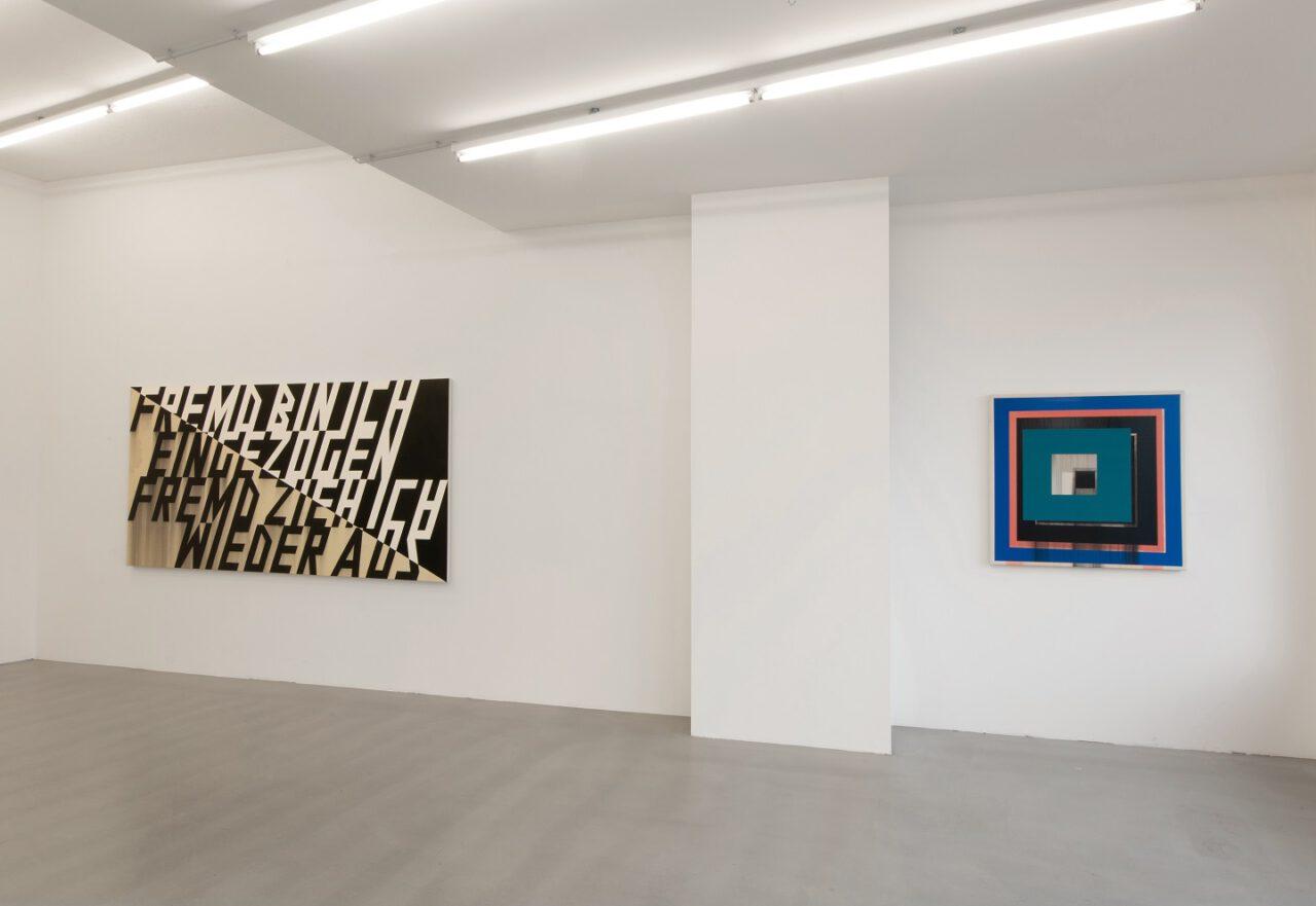 Lars Breuer – Ausstellungsansicht Komposition