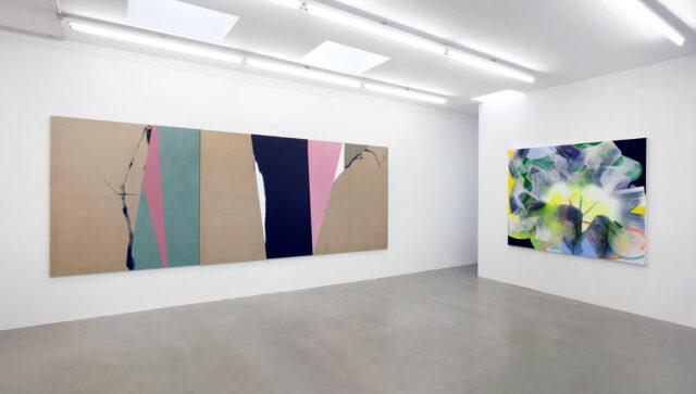 Ausstellungsansicht_Keine leeren Versprechen_Laura Aberham_Sophie Heinrich_Galerie Rupert Pfab